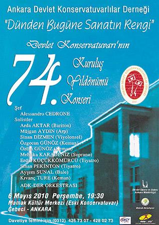 74. Yıl Kuruluş Konseri